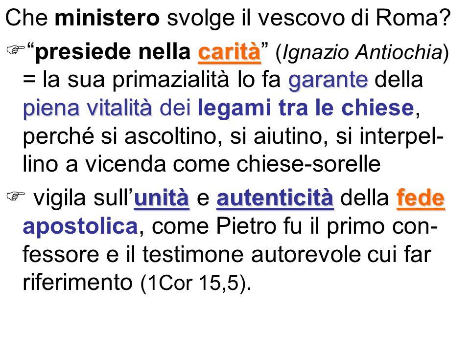 Che ministero svolge il vescovo di Roma