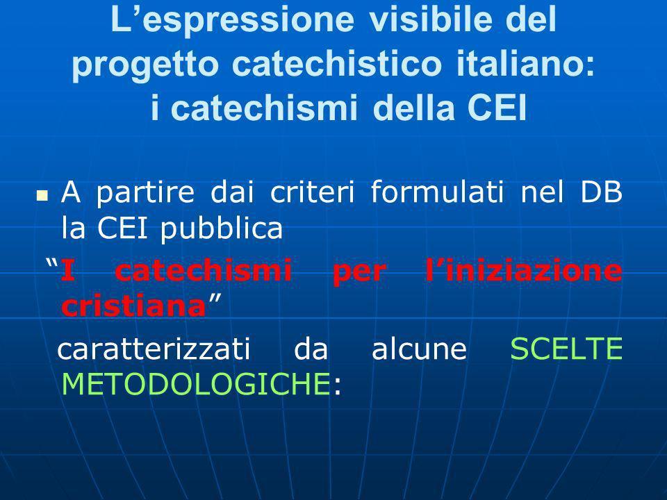 L'espressione visibile del progetto catechistico italiano: i catechismi della CEI