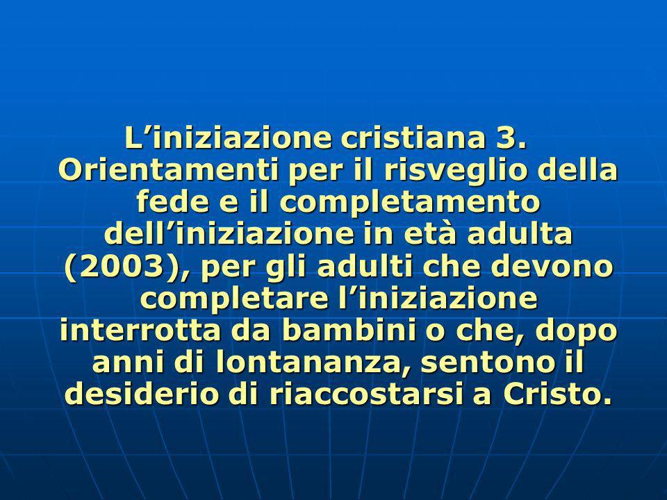 L'iniziazione cristiana 3