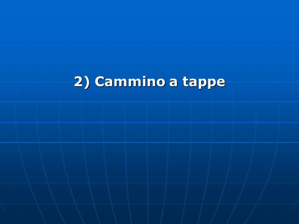 2) Cammino a tappe