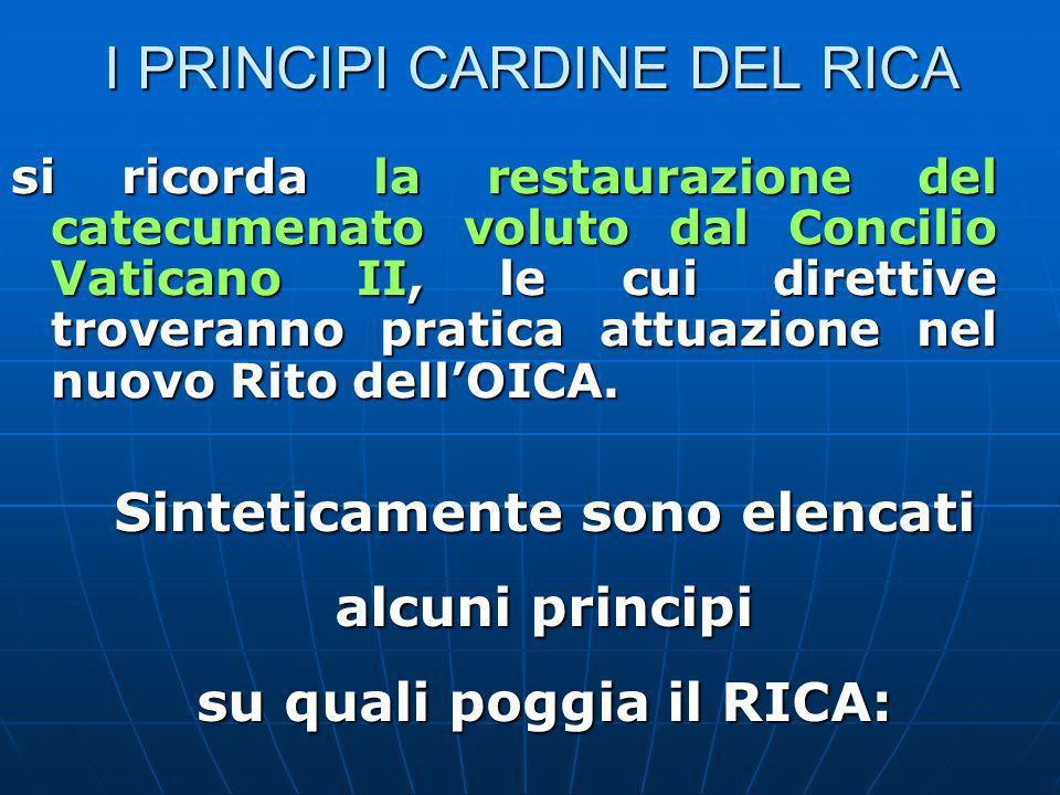 I PRINCIPI CARDINE DEL RICA