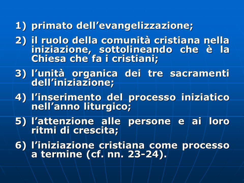 primato dell'evangelizzazione;