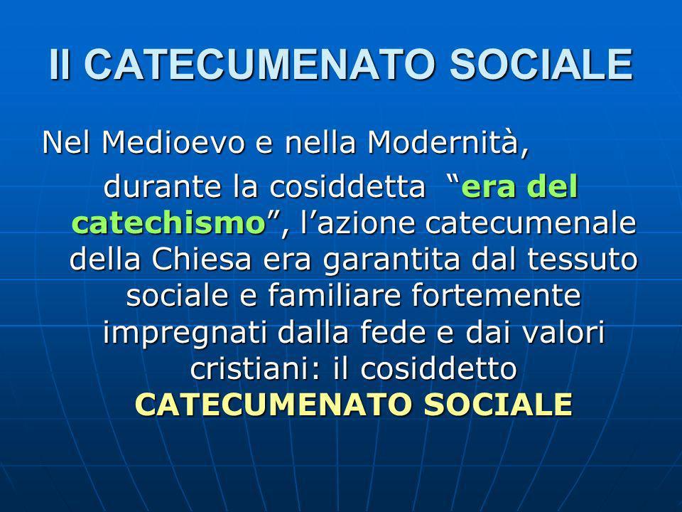 Il CATECUMENATO SOCIALE