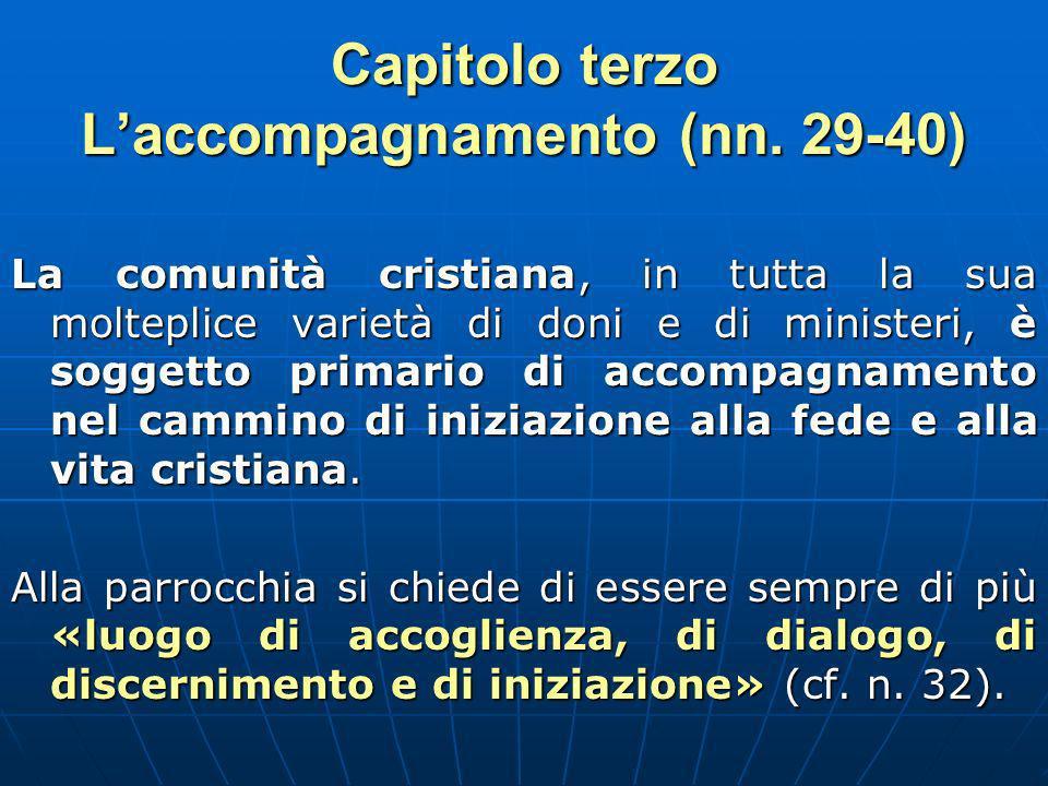 Capitolo terzo L'accompagnamento (nn. 29-40)