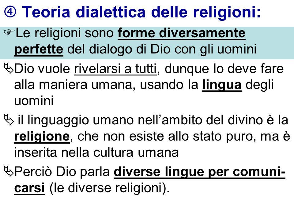  Teoria dialettica delle religioni: