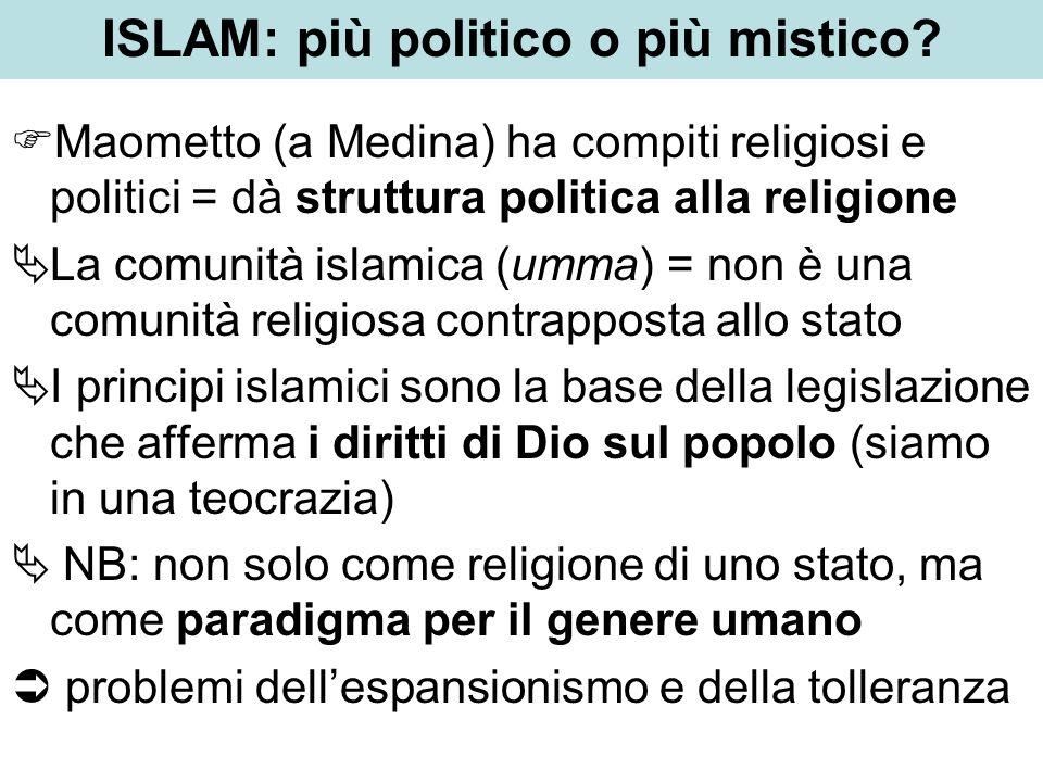 ISLAM: più politico o più mistico