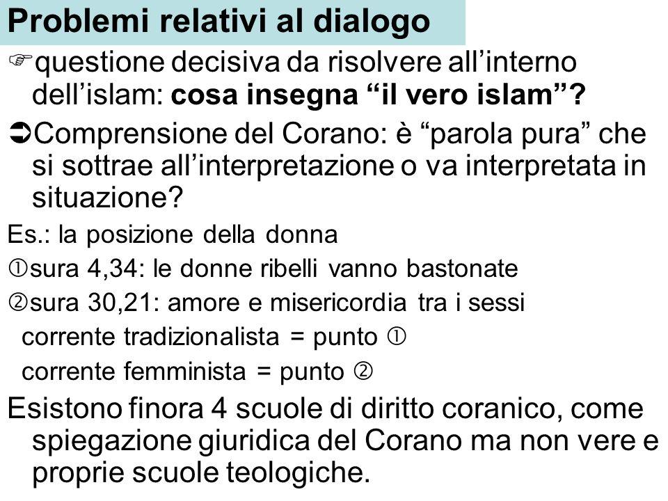 Problemi relativi al dialogo