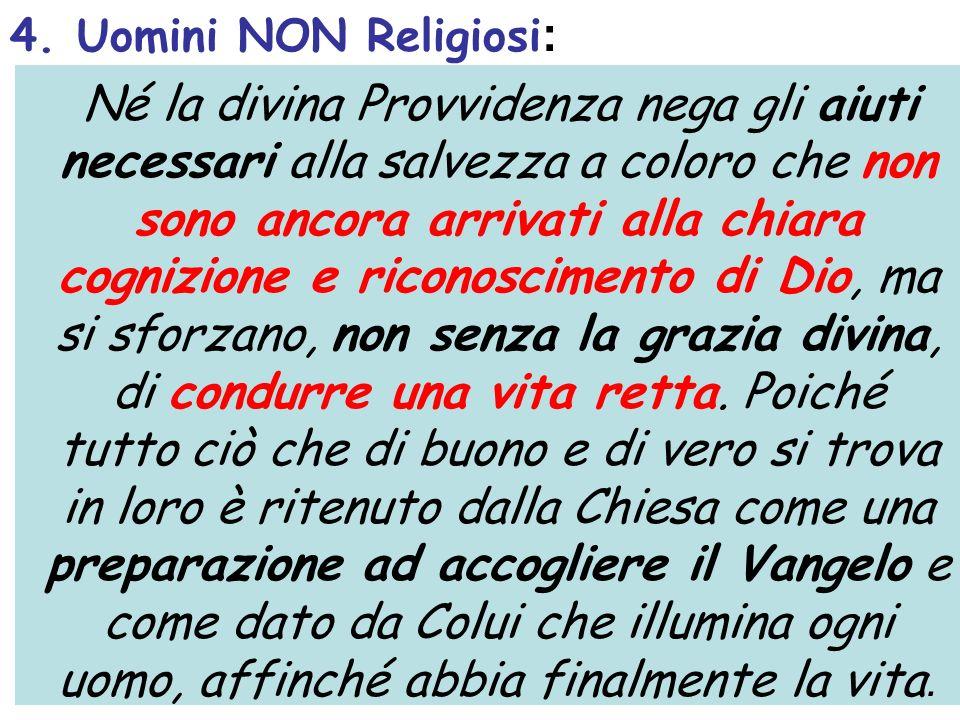 4. Uomini NON Religiosi:
