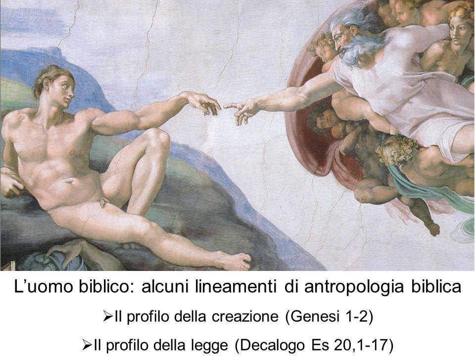 L'uomo biblico: alcuni lineamenti di antropologia biblica