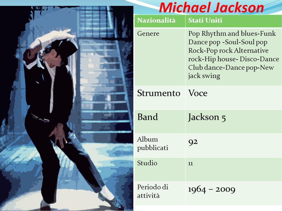 Michael Jackson Strumento Voce Band Jackson 5 92 1964 – 2009