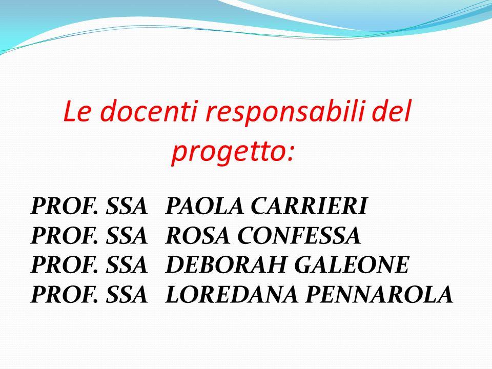 Le docenti responsabili del progetto: