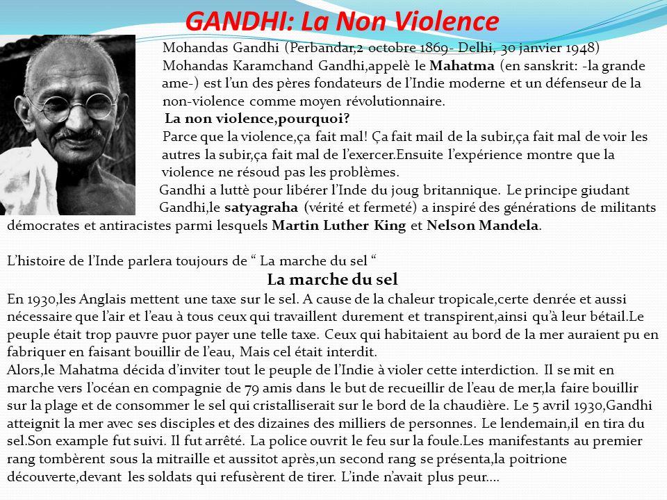 GANDHI: La Non Violence