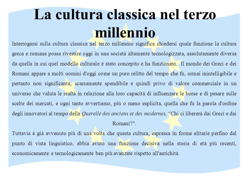 La cultura classica nel terzo millennio