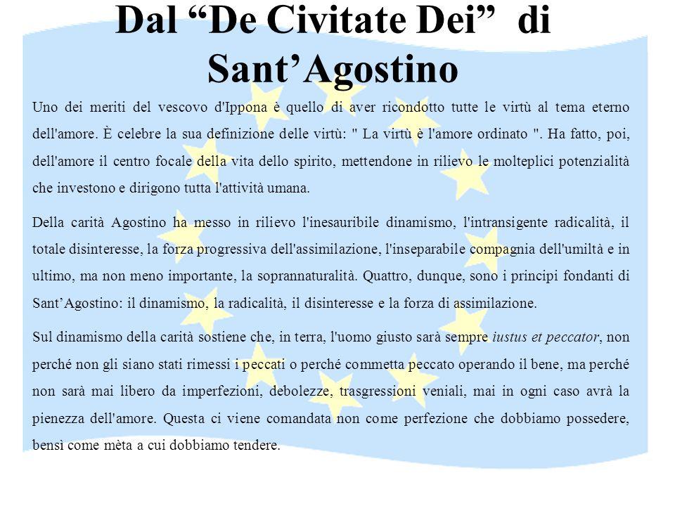 Dal De Civitate Dei di Sant'Agostino
