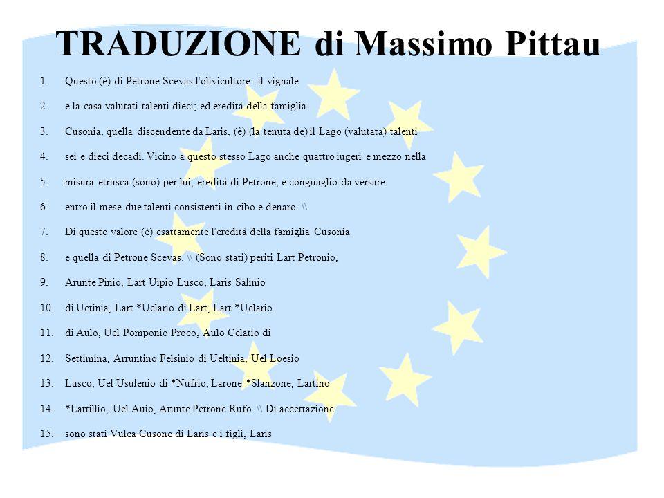 TRADUZIONE di Massimo Pittau