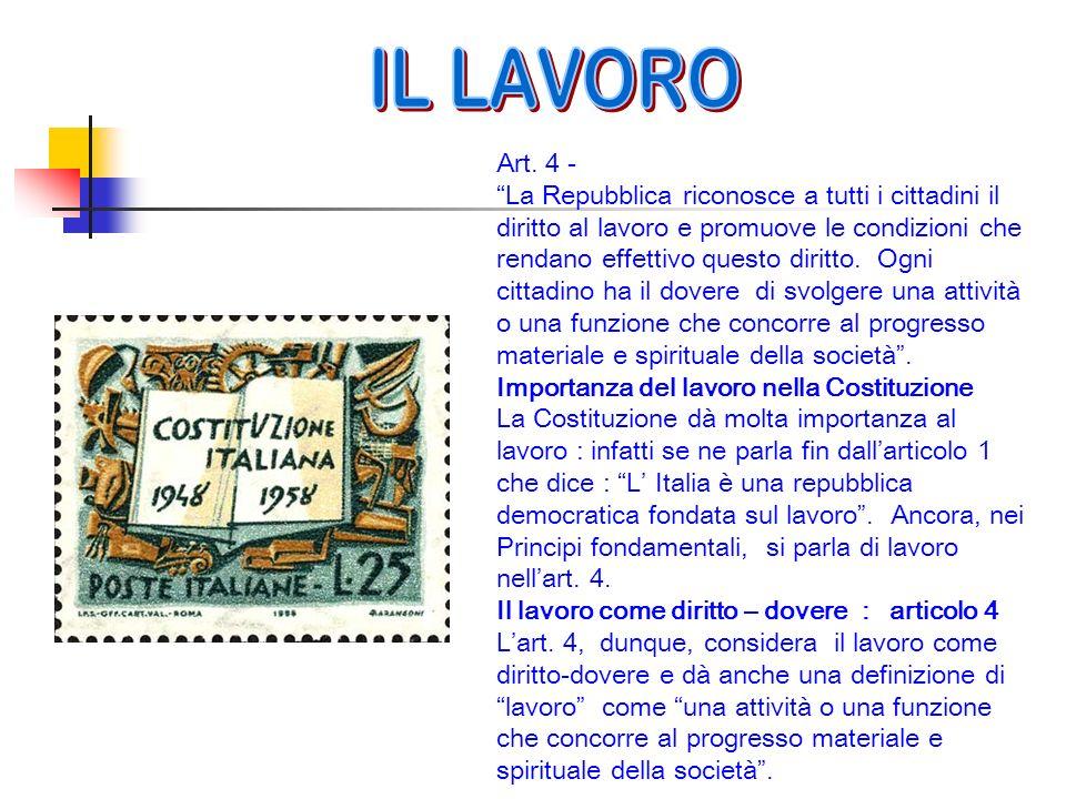 IL LAVORO Art. 4 -