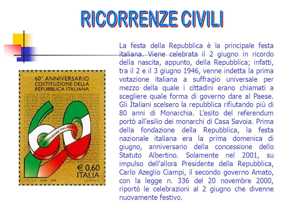 RICORRENZE CIVILI