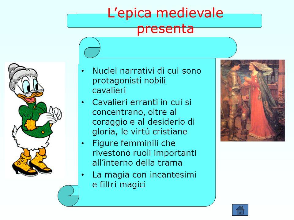 L'epica medievale presenta