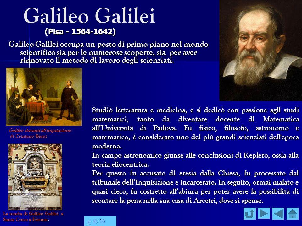 Galileo Galilei (Pisa - 1564-1642)
