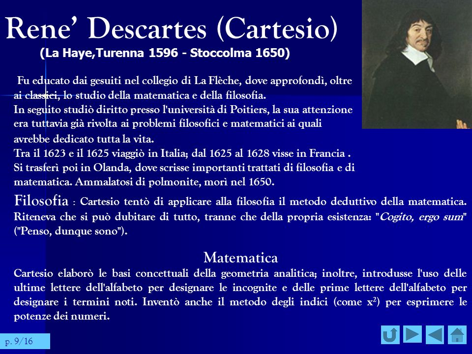 Rene' Descartes (Cartesio)