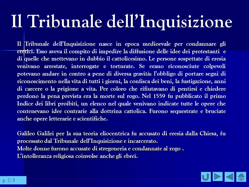 Il Tribunale dell'Inquisizione