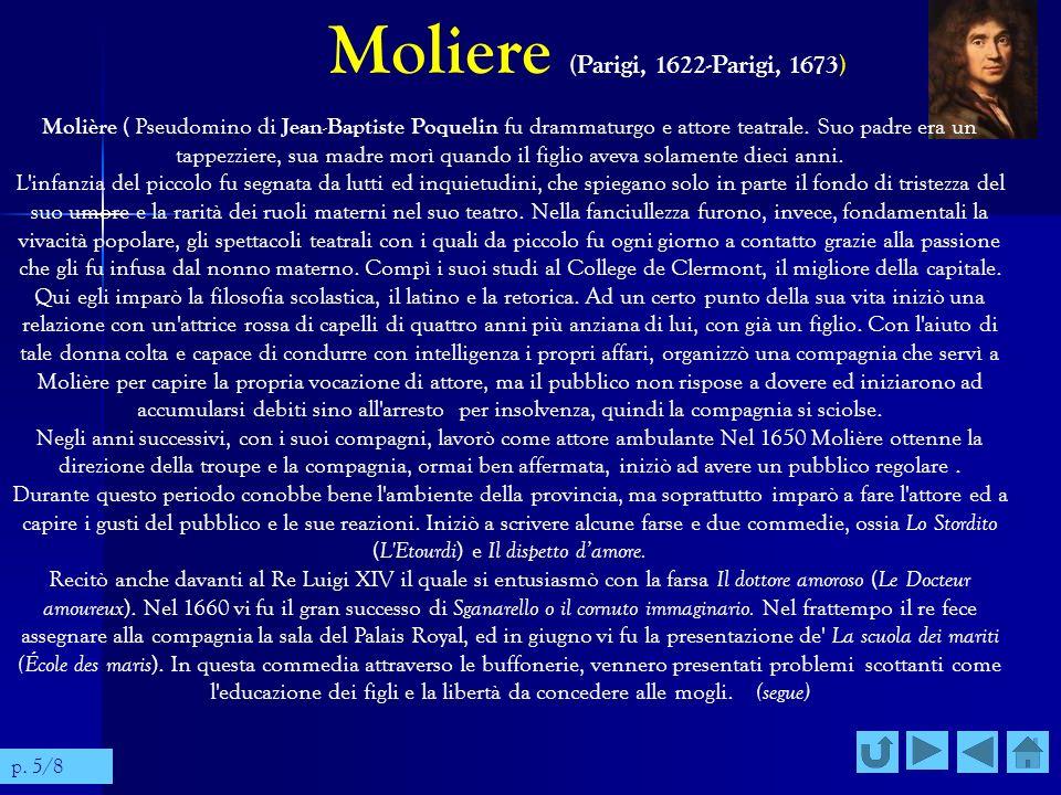 Moliere (Parigi, 1622-Parigi, 1673)