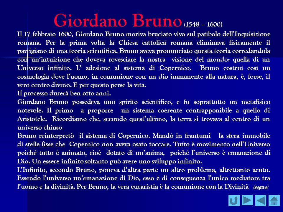 Giordano Bruno (1548 – 1600)