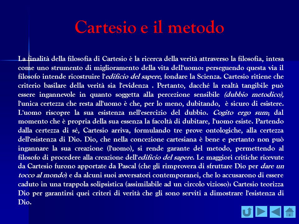 Cartesio e il metodo