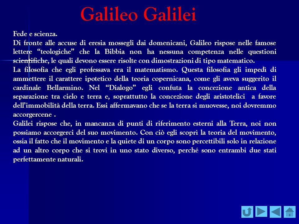 Galileo Galilei Fede e scienza.