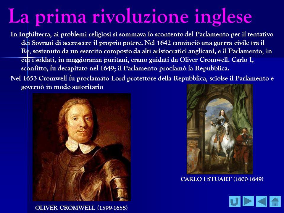 La prima rivoluzione inglese