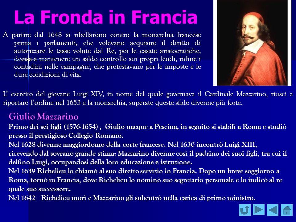 La Fronda in Francia Giulio Mazzarino