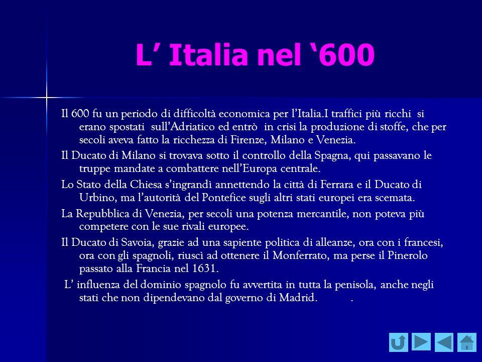 L' Italia nel '600