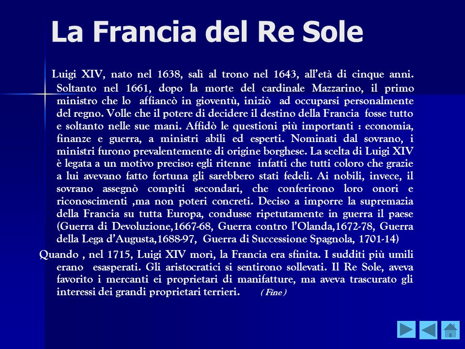 La Francia del Re Sole
