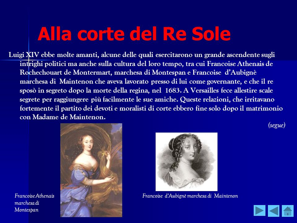 Alla corte del Re Sole