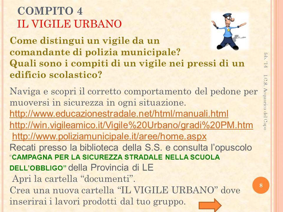 COMPITO 4 IL VIGILE URBANO