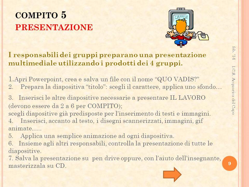 compito 5 presentazione