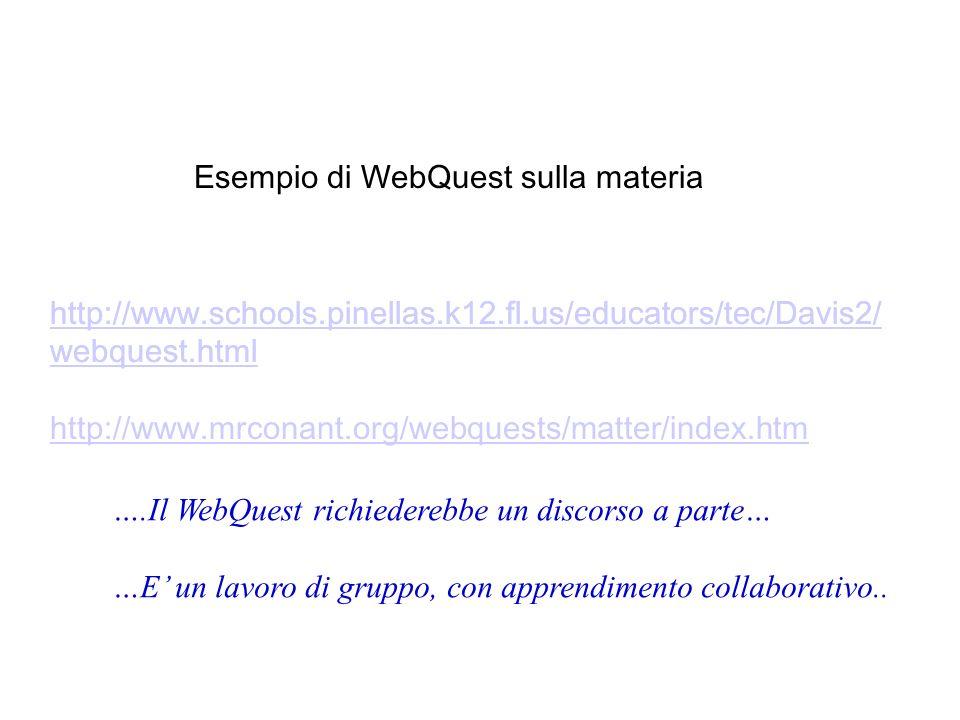 Esempio di WebQuest sulla materia