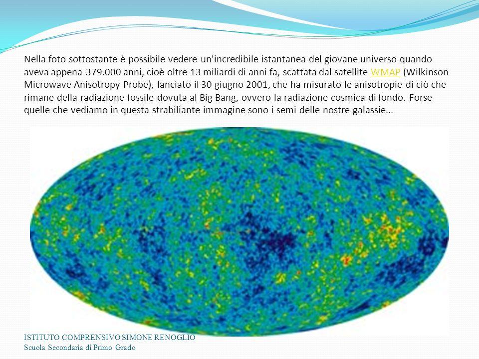 Nella foto sottostante è possibile vedere un incredibile istantanea del giovane universo quando aveva appena 379.000 anni, cioè oltre 13 miliardi di anni fa, scattata dal satellite WMAP (Wilkinson Microwave Anisotropy Probe), lanciato il 30 giugno 2001, che ha misurato le anisotropie di ciò che rimane della radiazione fossile dovuta al Big Bang, ovvero la radiazione cosmica di fondo. Forse quelle che vediamo in questa strabiliante immagine sono i semi delle nostre galassie...