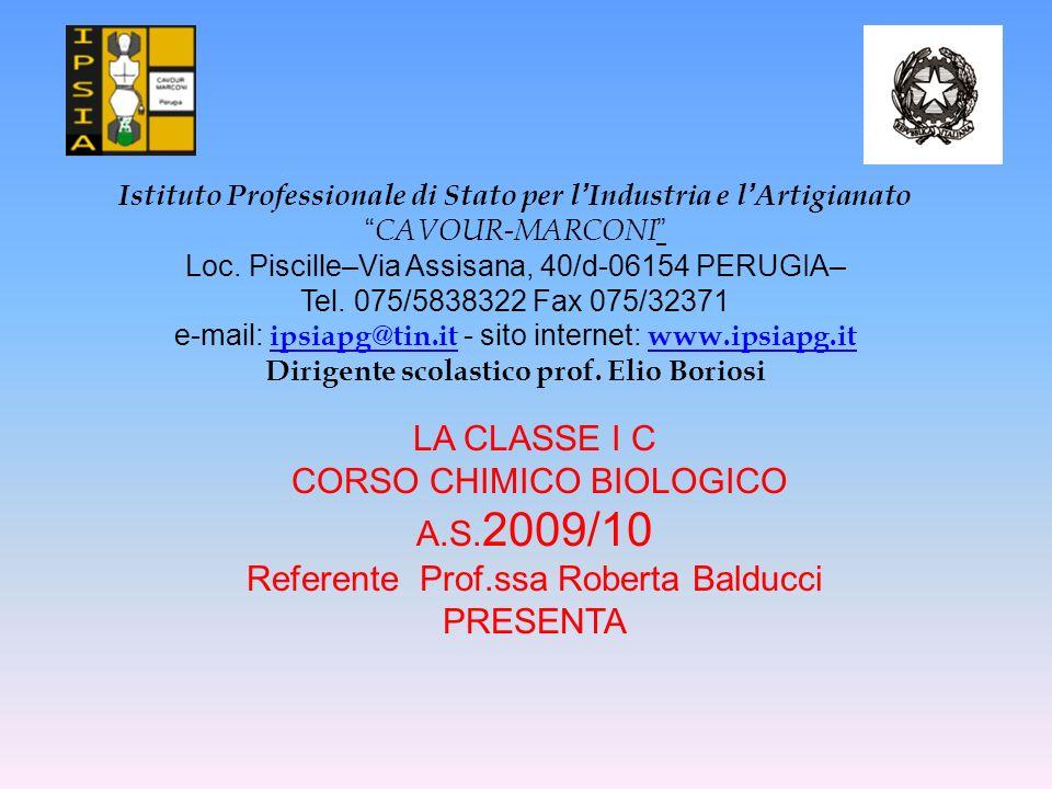 CORSO CHIMICO BIOLOGICO A.S.2009/10