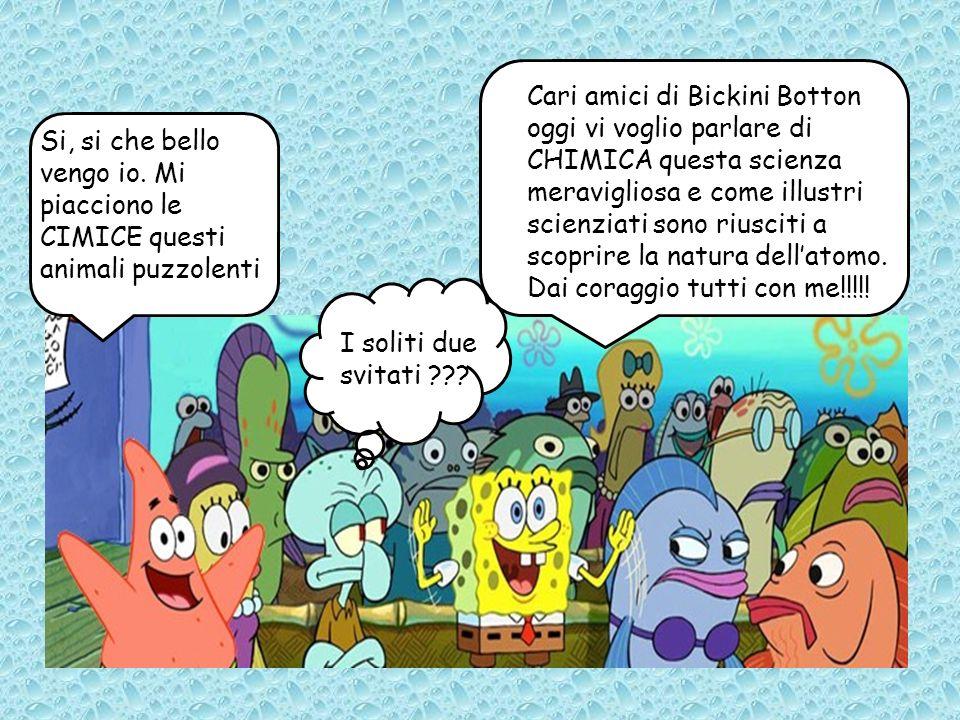 Cari amici di Bickini Botton oggi vi voglio parlare di CHIMICA questa scienza meravigliosa e come illustri scienziati sono riusciti a scoprire la natura dell'atomo. Dai coraggio tutti con me!!!!!