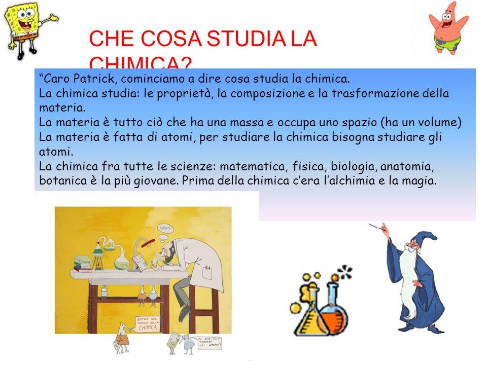 CHE COSA STUDIA LA CHIMICA