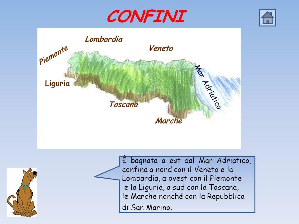 CONFINI Lombardia Veneto Piemonte Mar Adriatico Liguria Toscana Marche
