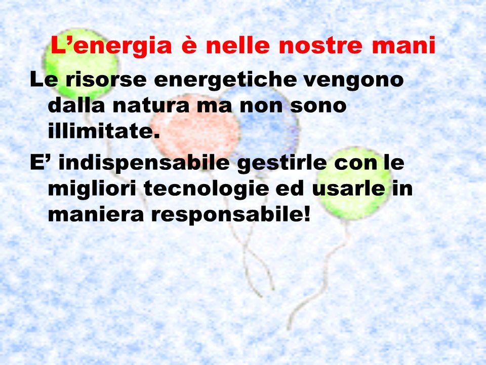 L'energia è nelle nostre mani