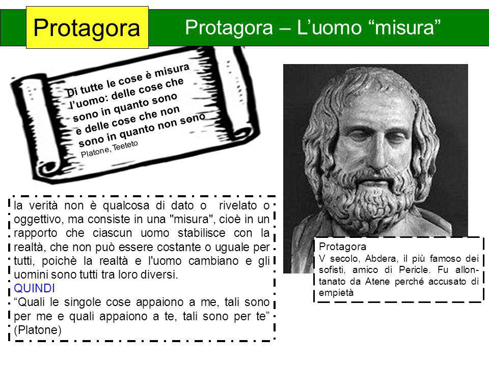Protagora Protagora – L'uomo misura