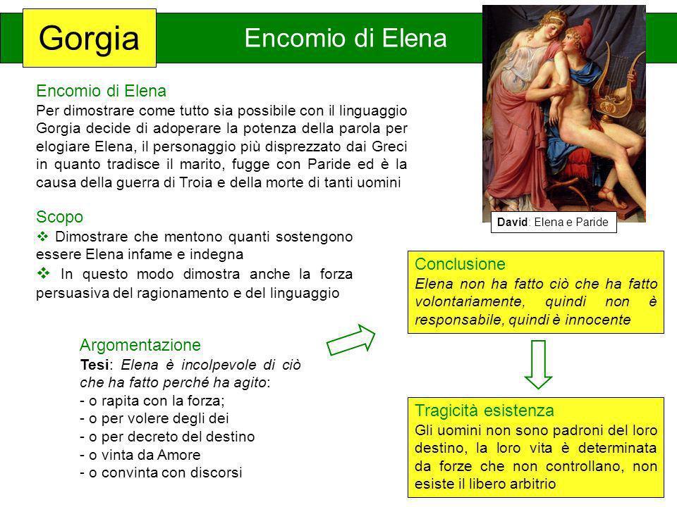 Gorgia Encomio di Elena Encomio di Elena Scopo