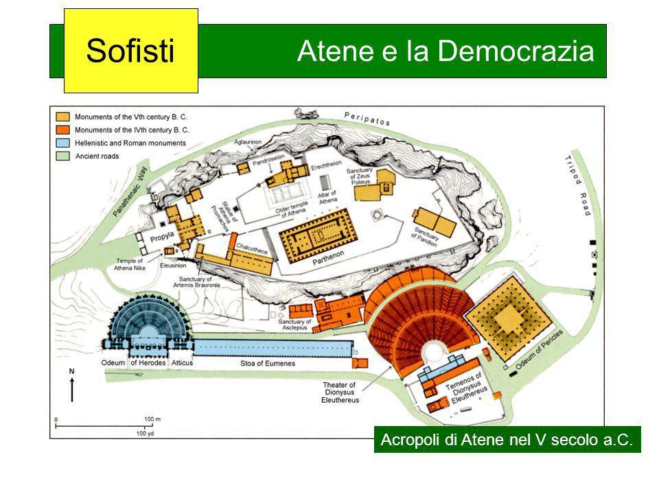Atene e la Democrazia Sofisti Acropoli di Atene nel V secolo a.C.