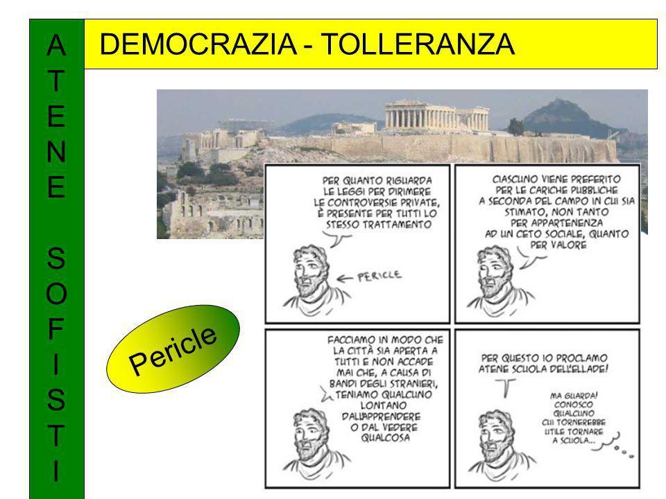 A T E N S O F I DEMOCRAZIA - TOLLERANZA Pericle