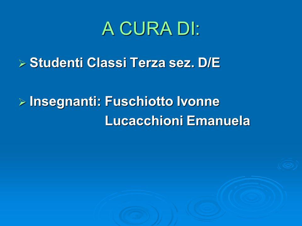 A CURA DI: Studenti Classi Terza sez. D/E