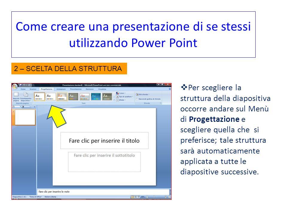 Come creare una presentazione di se stessi utilizzando Power Point