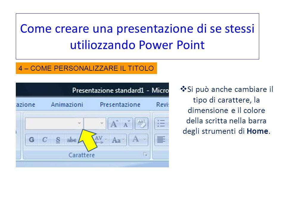 Come creare una presentazione di se stessi utiliozzando Power Point